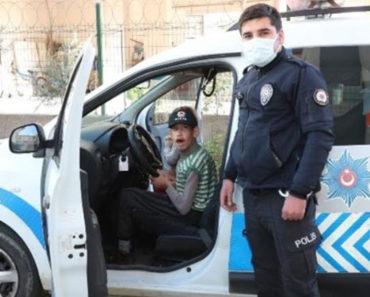 Epilepsi hastası İdris'e polisler sürpriz yaptı