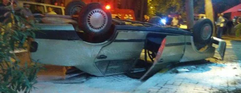 Balıkesir'in Erdek ilçesinde araba sürerken nöbet geçiren bir şoför kaza yaptı